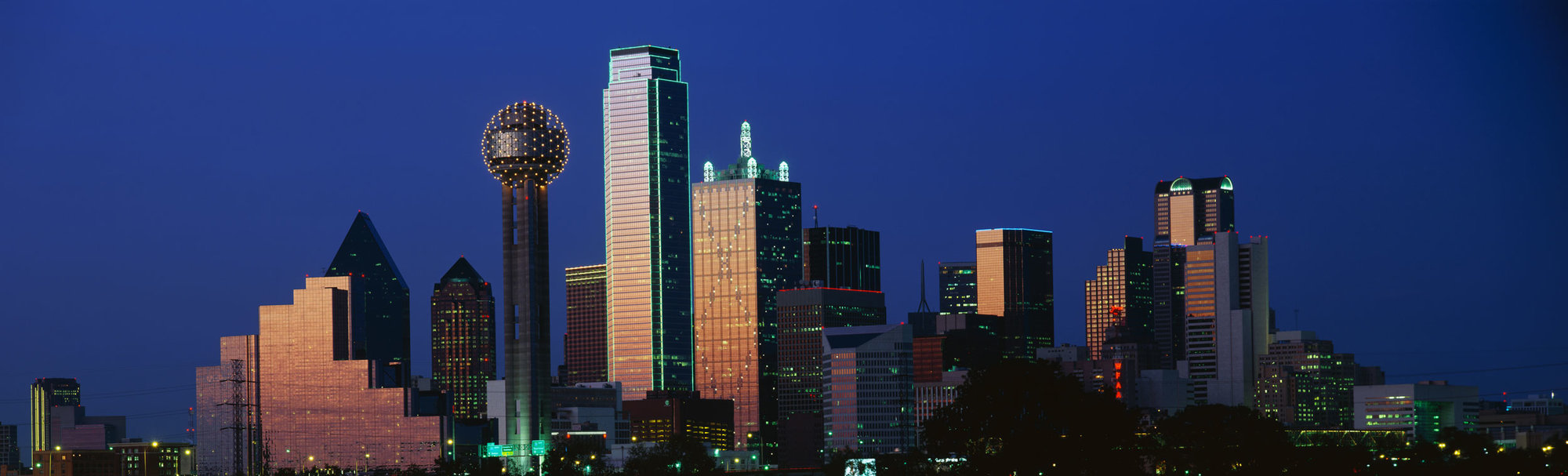 Dallas skyline.
